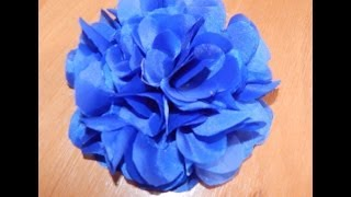 как сделать цветы из ткани своими руками пошагово