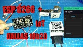 Вай-фай термометр на смартфоне ESp8266 и dallas 18b20  ИОТ технологии