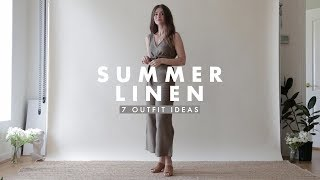 outfit ideas summer linen outfits inspiration dearly bethany