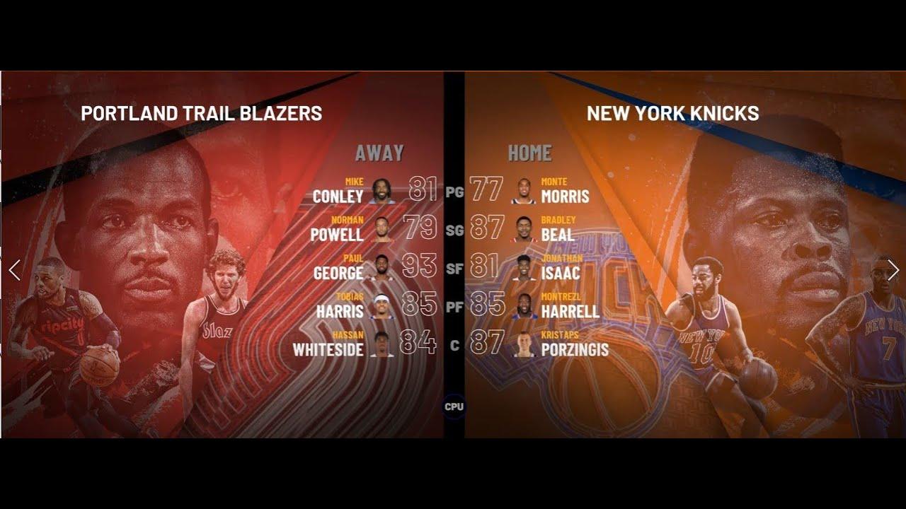 IGNBA: Blazers @ Knicks Jan 1 - YouTube