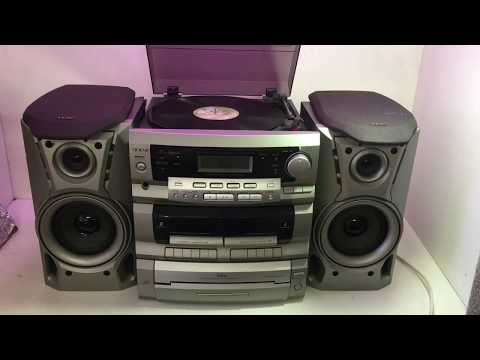 TEAC DC-D2930 Radio Double Cassette 3 Disc Changer Turntable Hifi System