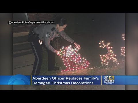 Michael J. - Aberdeen Police replace homeowner's Christmas after vandals steal them!