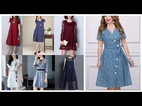 Girls A Line Chiffon Summer Frock Style Dress Design Ideas 2019-20 5