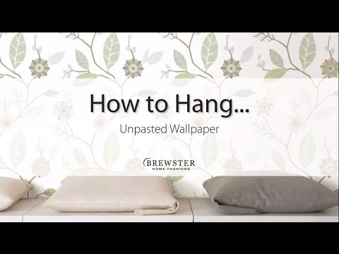 How to Hang Wallpaper by Brewster Home Fashions - YouTube