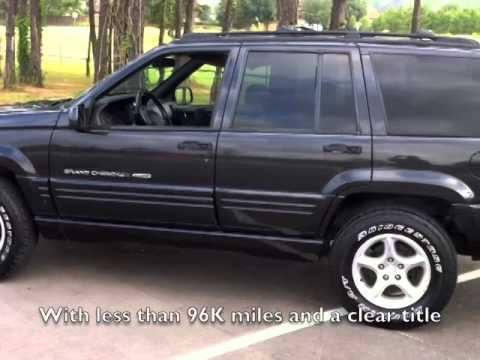 for sale 1998 jeep grand cherokee 5 9 ltd 4750 obo youtube. Black Bedroom Furniture Sets. Home Design Ideas