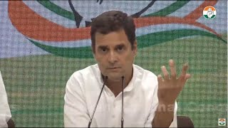 Rahul Gandhi accuses media of being soft on PM Modi, mocks 'cloud' comment