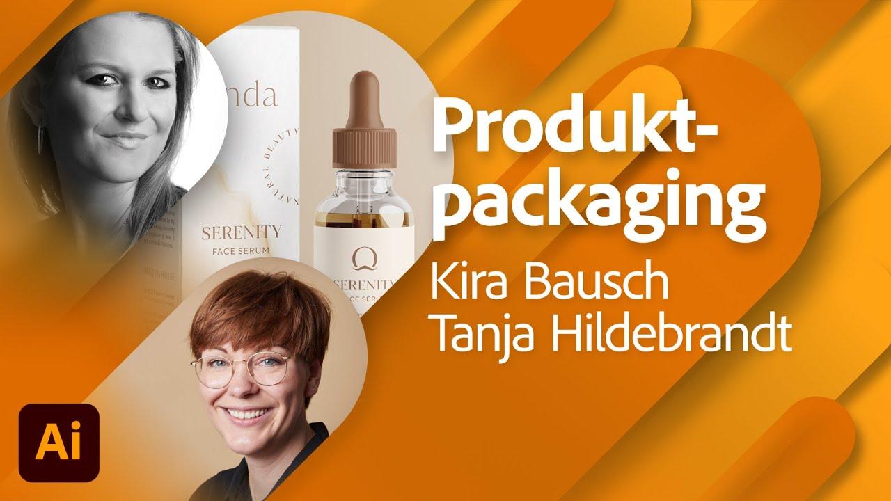 Packaging für eine Hautpflege Marke mit Kira Bausch  Adobe Live