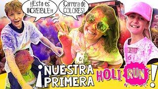 🌈¡¡Carrera de COLORES HOLI LIFE de MÁLAGA!! 🏃🏻¡Nuestra primera HOLI RUN PARTY! ✨ thumbnail