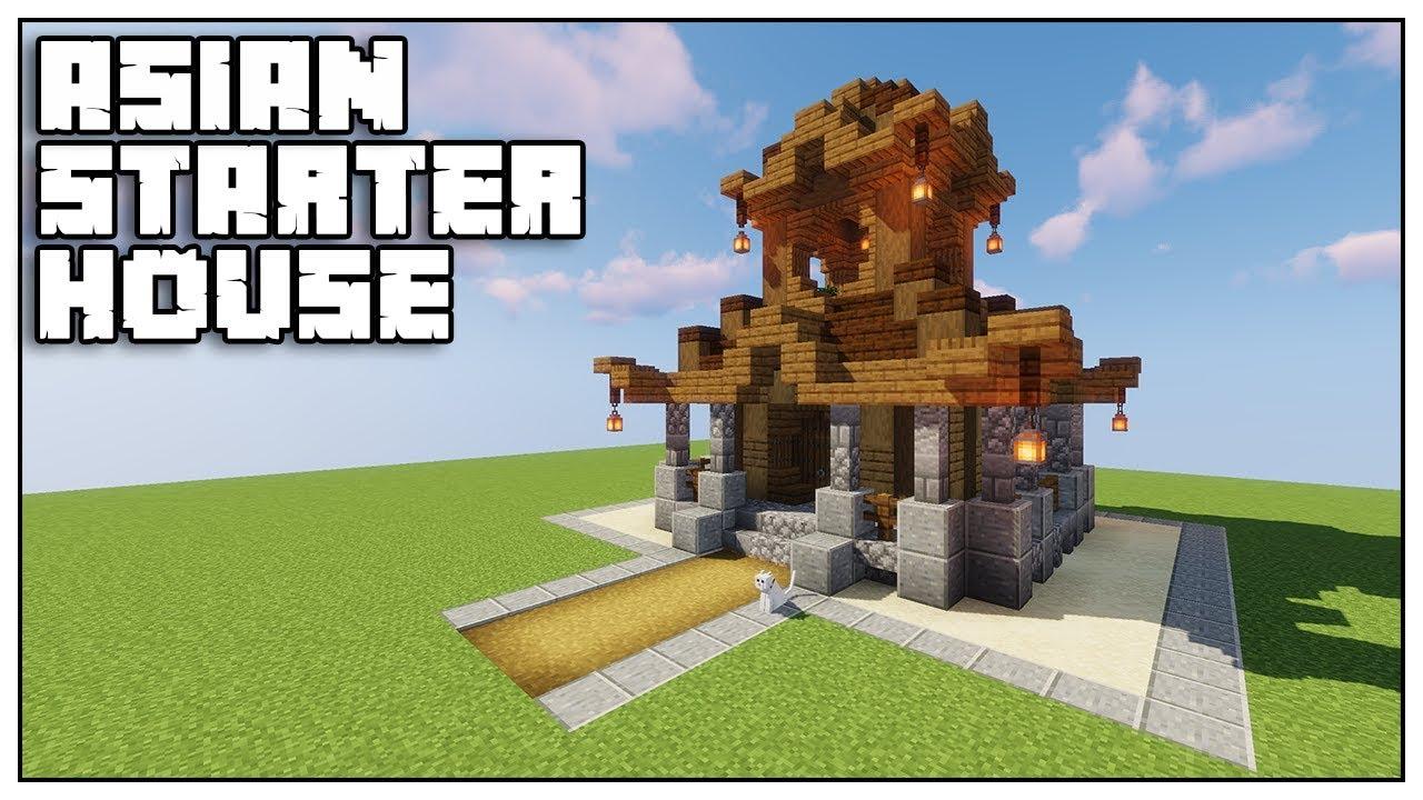 Minecraft 12.124 Starter Asian House Tutorial