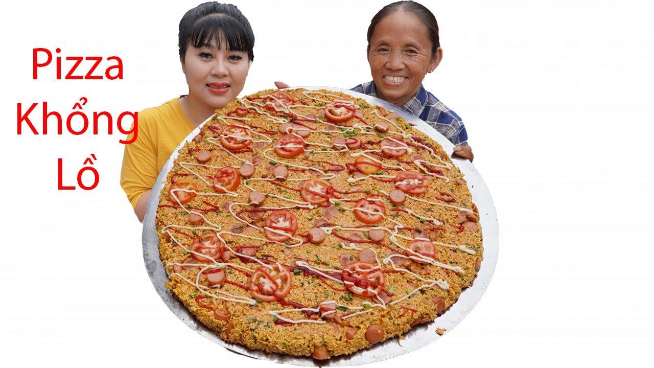 Bà Tân Vlog - Làm Chiếc Pizza Mỳ Tôm Siêu To Khổng Lồ 50 Người Ăn