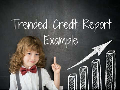 Trended Credit Report Example Fannie Mae's newest tool