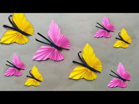 Butterfly Making With Paper // Butterfly Craft // Room Decor