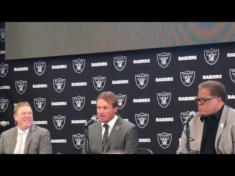 Jon Gruden Oakland Raiders Introductory Press News Conference New Head Coach Introduced 1/9/18