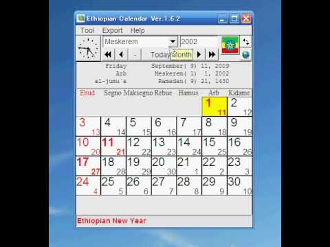 New Year Gregorian Calendar Ethiopia How To Convert Ethiopian Dates To The Gregorian Calendar Ethiopia Calendar Youtube