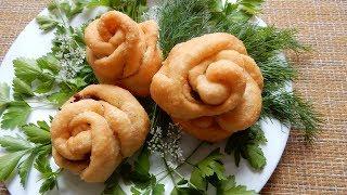 Пирожки с индейкой жареные во фритюрнице