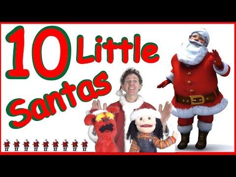 10 Little Santas Kids Song  Christmas Song  Learn English Kids