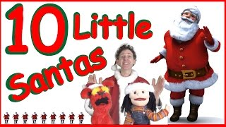 10 Little Santas Kids Song | Christmas Song | Learn English Kids