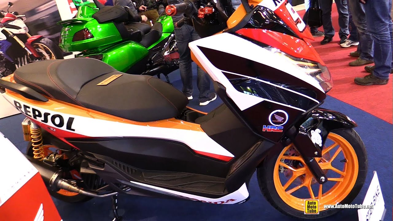 2016 honda forza 125 repsol by star bike walkaround 2015 salon de la moto paris youtube. Black Bedroom Furniture Sets. Home Design Ideas