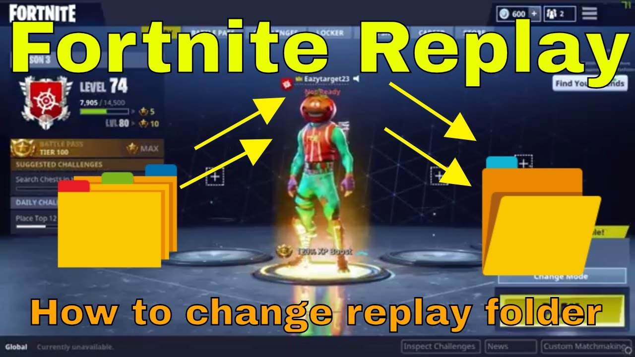fortnite how to change replay save folder - fortnite file location