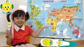 Bé Học Và Khám Phá Bản Đồ Thế Giới Với Bút Biết Nói Mr. Bubino Tập 2 ❤ AnAn ToysReview TV ❤