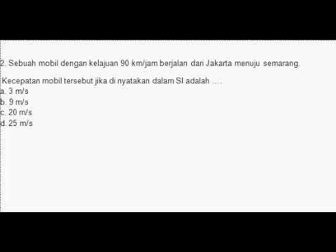 Soal Kelajuan Kelas 8 Youtube