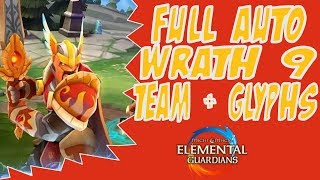 Full Auto Wrath 9 Team + Glyphs - Might and Magic Elemental Guardians