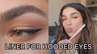 Winged Eyeliner For H๐oded Eyes I 5 Easy Steps