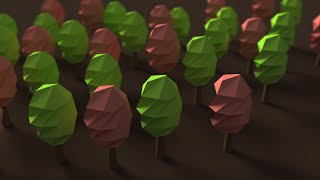 Blender Tutorial: Low Poly Twisted Trees