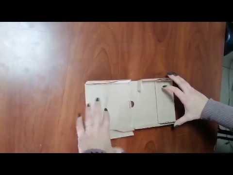 Коробка картонная 120 * 120 * 20 мм, самосборная - продолжение сборки