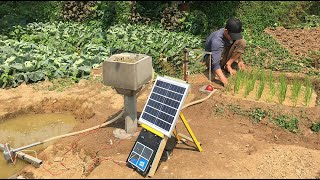 Construction of water tanks and automatic solar-powered mini pumps  - Making Mini Pumps