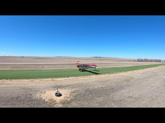 Piper Super Cub gets in a little practice at the Calhan Colorado Airport. It's paying off big!
