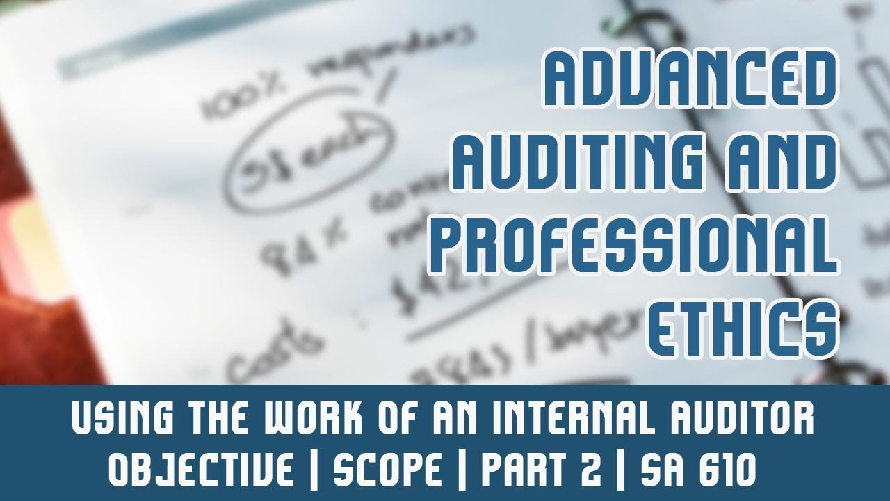 cas 610 using the work Using the work of an auditor's expert isa 620 634 introduction scope of this isa 1 this international standard on auditing (isa) deals with the auditor's.