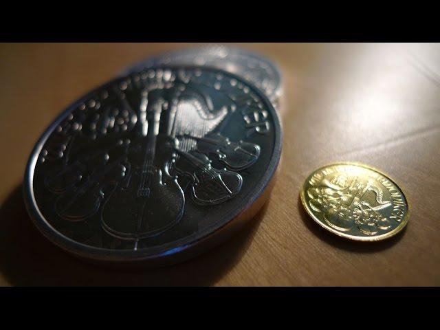 Gold zu Silber Relation - 2 Unzen Silber Philharmoniker entsprechen 1/25 Unze Gold Philharmoniker!