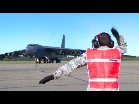 Three B-52H Stratofortresses Head North To Alaska