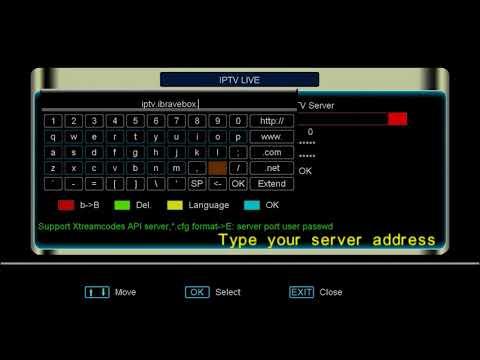 How to setup xtream IPTV server for ibravebox f10s - VideoPlas