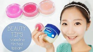 [초간단DIY]  DIY Tinted Vaseline Lip Balm 바세린 틴트 립밤만들기 (ENG cc)