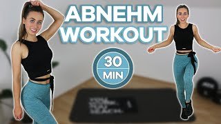 30 Min. WOHNZIMMER ABNEHM WORKOUT | HIIT Workout (+ Warm Up & Cool Down)