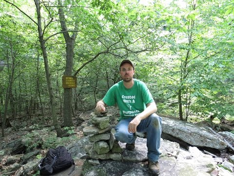 Hiking Berks county PA High point, Blue Mountain 1,680 feet