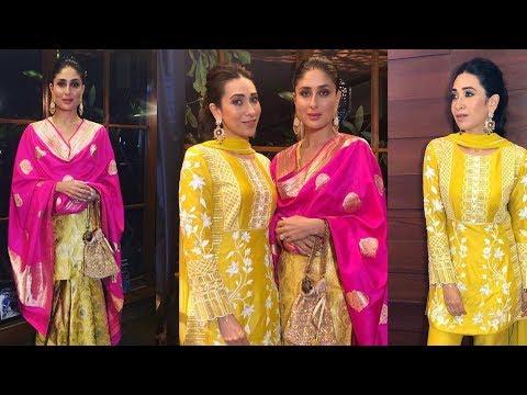 Kareena Kapoor Khan and Karisma Kapoor looking beautiful in GaneshChaturthi pooja