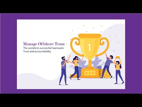How can one manage an offshore development team effectively