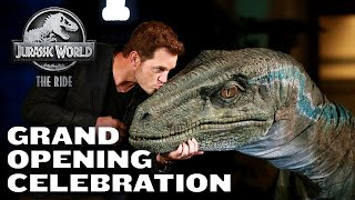 Grand Opening Celebration of Jurassic World - The Ride with Chris Pratt and Bryce Dallas Howard