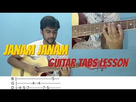 Janam Janam Lead/intro Complete Guitar Tabs Lesson - Dilwale - Arijit Singh