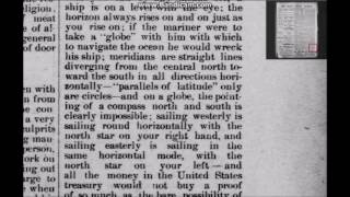 Flat Earth -  A MUST READ (The Zetetic Philosophy) 1890 newspaper article
