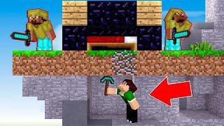 COMO DESTRUIR A CAMA POR BAIXO !! - Minecraft BedWars