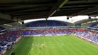 Bolton vs Birmingham City 3.5.2014 Blues fans singing Keep Right On after the full time whistle!