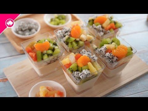 เต้าฮวย ฟรุตสลัด | นมโรงเรียน ⓒ Pudding wite Fruit Salad