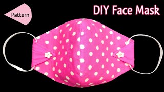 New Easy Pattern Stylish Mask Face Mask Sewing Tutorial Face Mask Making At Home Mask Stitching