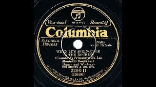 1930 HITS ARCHIVE: When It's Springtime In The Rockies - Ben Selvin (with vocal group)