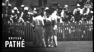 Brisbane - First Test Report AKA Australia Wins The First Test Match (1954)