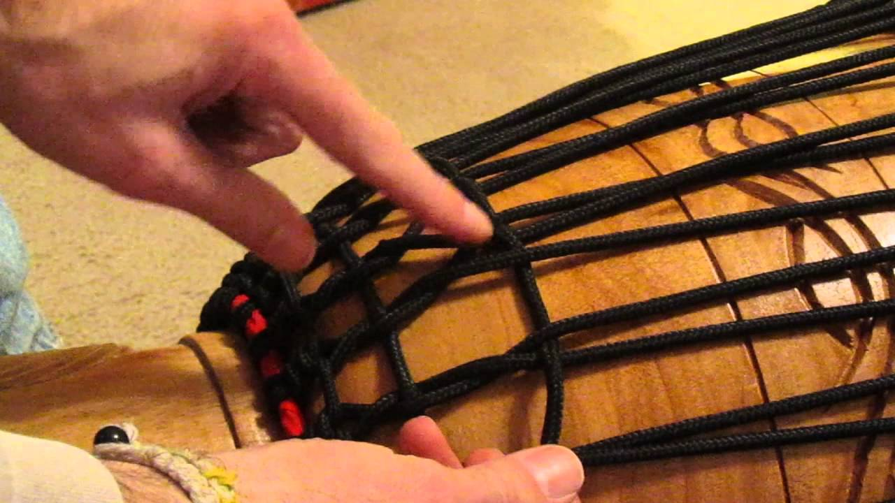 medium resolution of djembe tuning rope tuning second ring diamond knot